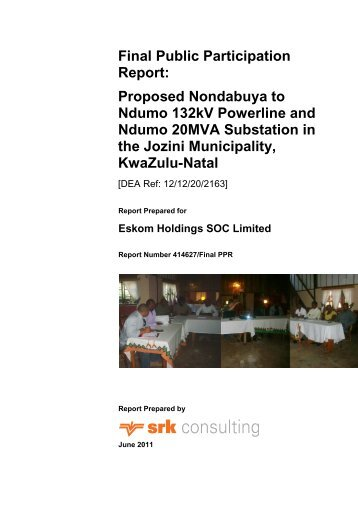 Final Public Participation Report: Proposed ... - SRK Consulting