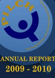 Annual Report 2010 - qpilch