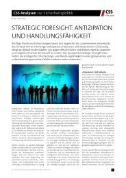 Strategic Foresight: Antizipation und Handlungsfähigkeit - Center for ...