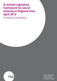 A revised regulatory framework for social housing in England from ...