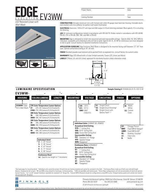 Ev3ww Led Pinnacle Architectural Lighting