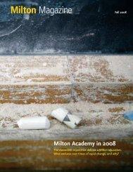 Milton Magazine - Milton Academy