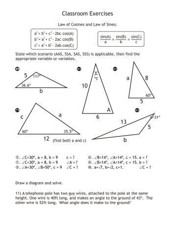 5 b 5 6 10 c 12 a 5 8 A a 13 b Classroom Exercises - flip@mrflip.com