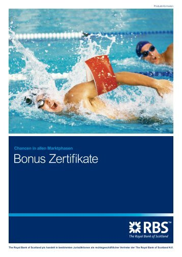 Bonus Zertifikate - Infoboard