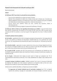 Projet de loi de financement de la Sécurité sociale pour 2013