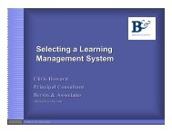 Selecting a Learning Management System
