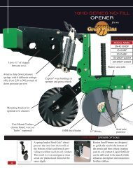 10HD SERIES NO-TILL OPENER - Great Plains Manufacturing