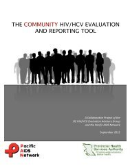 the community hiv/hcv evaluation and reporting tool - Pacific AIDS ...