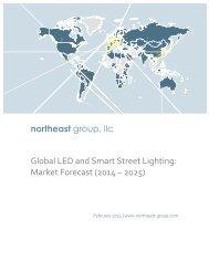 Brochure-Global LED & Smart Street Lighting-Market Forecast 2014-2025 - Northeast Group
