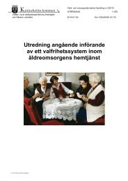 2/2010 Utredning om införande av ett valfrihetssystem inom ...