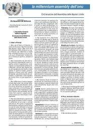Bollettino n.20 - Dichiarazione del Millennio (Assemblea Generale ...