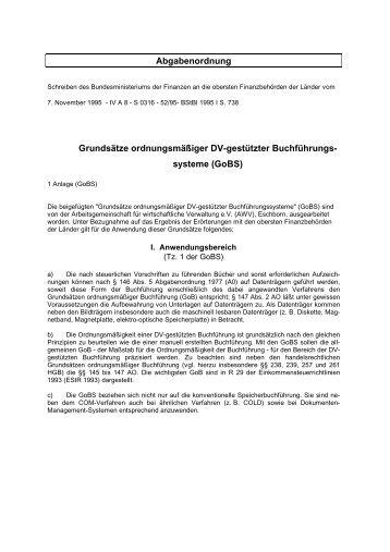 GoBS - Signaturportal.de