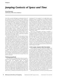 Jumping Contexts of Space and Time - School of Journalism and ...