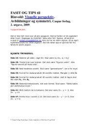 Fasit Tallteori. Visuelle perspektiv. Caspar. - Caspar Forlag AS