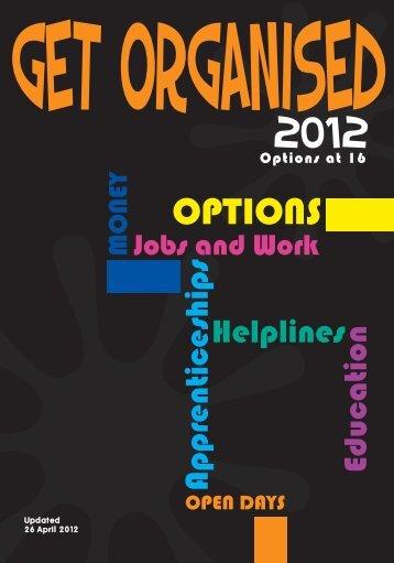 Get Organised 2011-2012.indd - Calderdale and Kirklees Careers ...