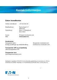 Tilleggsutstyr - Moeller