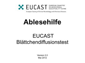 Ablesehilfe - eucast