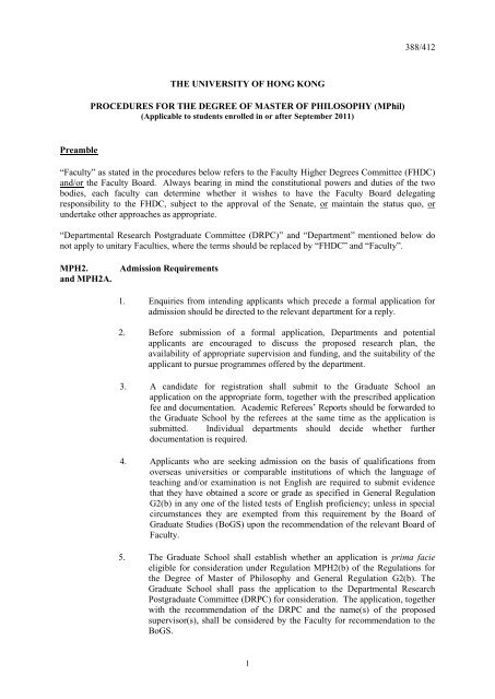 hku graduate school thesis submission