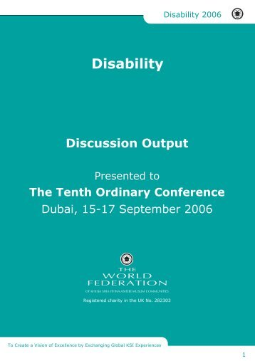 Discussion Output - The World Federation of KSIMC