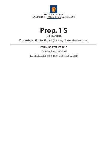 Prop. 1 S (2009-2010) - Statsbudsjettet