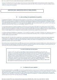 le cadre juridique de la planification hospitalière - Vie publique