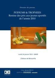 PODIUMS & TROPHEES Remise des prix aux jeunes sportifs de l ...