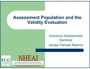 Assessment Population and the Assessment Population and ... - NAAC