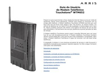 Guia do Usuário do Modem Telefônico Touchstone® WTM652 - Arris