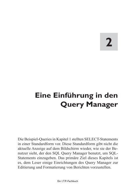 in den nager Eine Einführung in den Query Manager - MIDRANGE ...