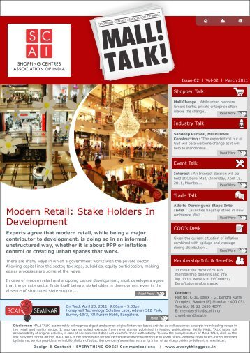 Mall Talk Issue March - Scai.in