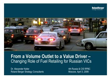 From a Volume Outlet to a Value Driver – - Roland Berger Strategy ...