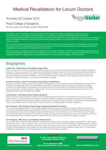 Medical Revalidation for Locum Doctors - HR-Formation