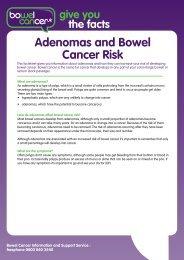 Adenomas and Bowel Cancer Risk - Bowel Cancer UK