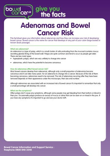 Adenomas and Bowel Cancer Risk - Bowel Cancer UK