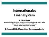 Internationales Finanzsystem - Weed