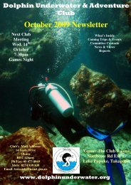 October 2009 Newsletter - DolphinUnderwater.org