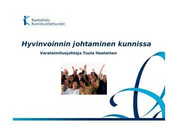 Teema 3: Hyvinvoinnin johtaminen kunnissa - Kunnat.net