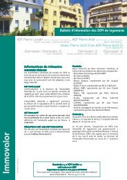 Bulletin Trimestriel d'information - SCPI Domivalor 4 - Haussmann ...