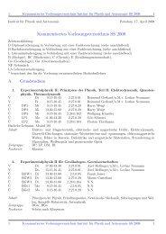 Kommentiertes Vorlesungsverzeichnis SS 2008