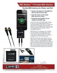 MIDI Mobilizer™ II Portable MIDI Interface - Line 6