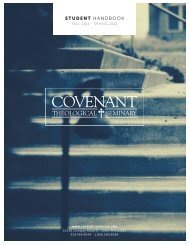 Download the Student Handbook - Covenant Theological Seminary
