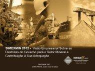 Visão Empresarial Sobre as Diretrizes do Governo para o ... - ADIMB