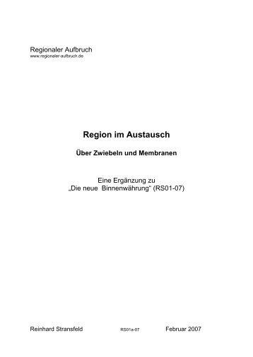 Region im Austausch - aber wie - Regionaler Aufbruch