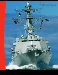 Integrated Marine Systems Catalog DRS TECHNOLOGIES
