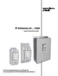 PF Softstarter - Sprecher + Schuh