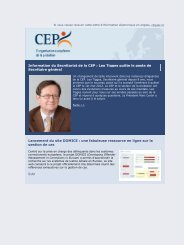 CEP Newsletter - CEP, the European Organisation for Probation