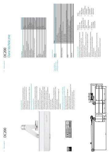 D C 200 D C 200 D ane techniczne