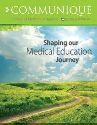 Shaping Our Medical Education Journey - College of Medicine ...
