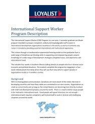 International Support Worker (ISW) Program