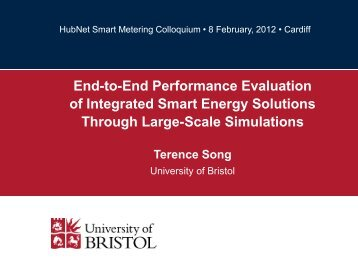 Performance Evaluation of Intgegrated Smart Energy ... - HubNet